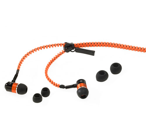 Tangle-Free Zipper Earphones