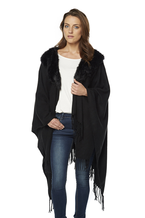 Faux Fur Fringe Wrap