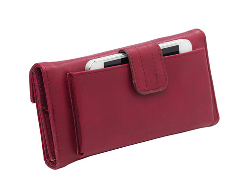 Burgundy Phone Purse