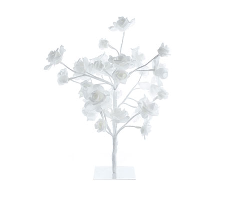 LED White Rose Tree