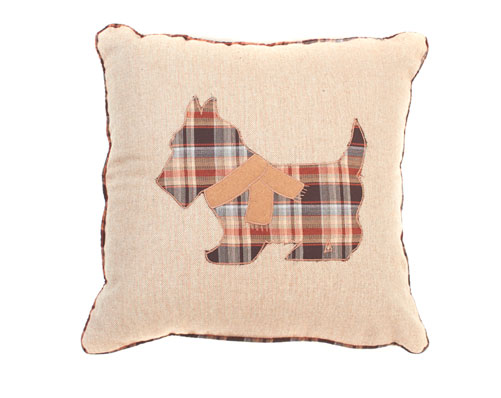 Appliqué Scottie Cushion