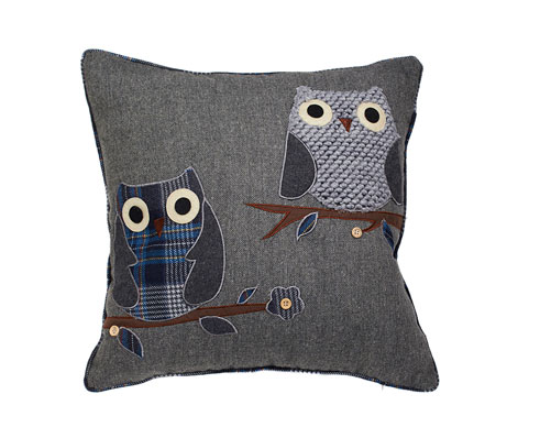 Appliqué Owl Cushion