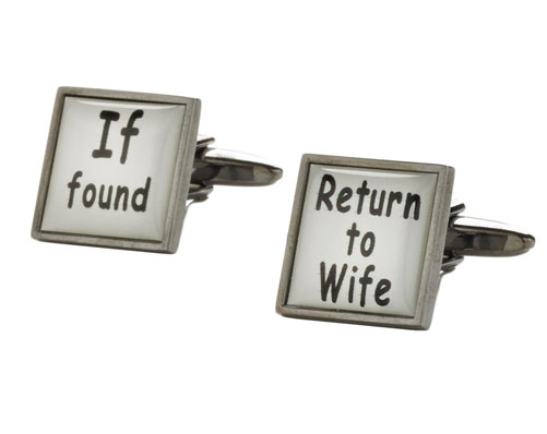 If Found...' Cufflinks