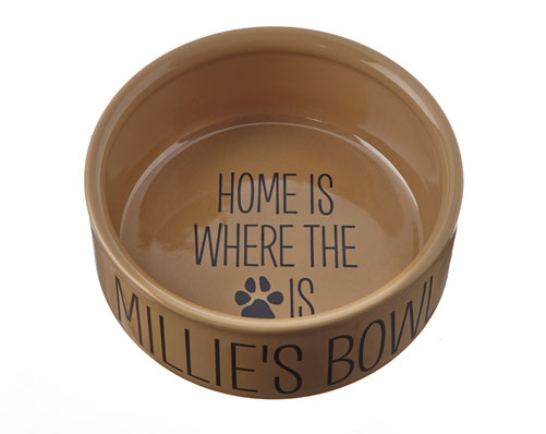 Home Is Where' Dog Bowl