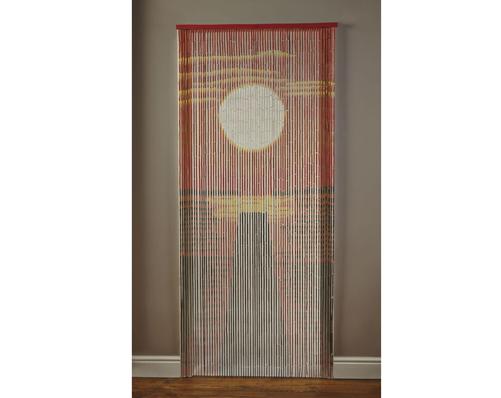 Bamboo Door Curtain - Sunset