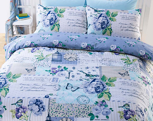 Scrap Book Pattern Duvet Set