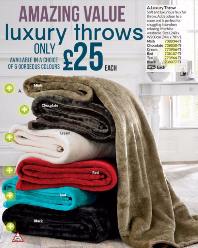 Large Luxury Throw