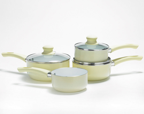 Set 3 saucepan with free milk pan