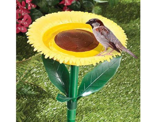 Sunflower Bird Bath