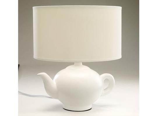 lamps rosebud shade tag teapot lamp