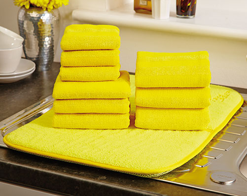 10 Piece Dish Drying Mat And Towel Set
