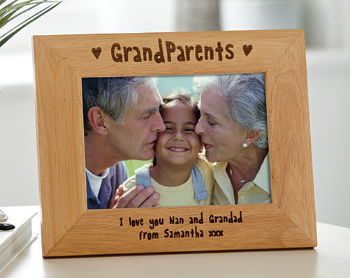 "5 x 7"" Grandparetns Wooden Frame"