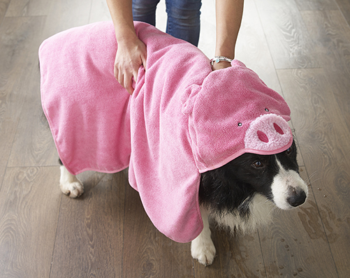 Animal Head Pet Towel