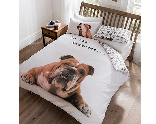 Barry Bulldog Duvet Set Kingsize