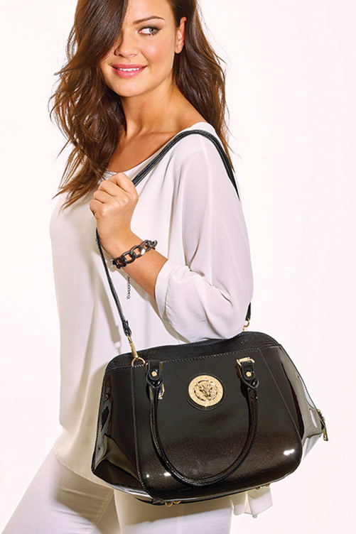 Black Patent Handbag