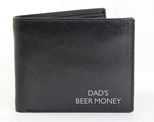 Box Black Leather Wallet