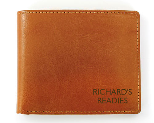 Box Tan Leather Wallet