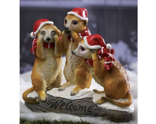 Christmas Welcome Meerkat Decoration
