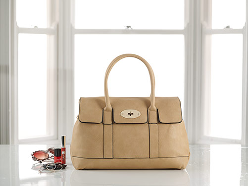 Cream Faux Leather Shopper