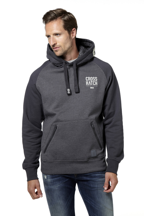 Crosshatch Ozment Hoody - Forged Iron