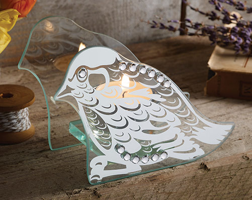 Diamante Bird Tealight Holder