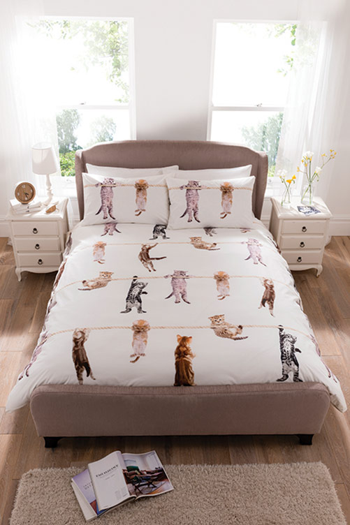 Double Climbing Kittens Duvet Set