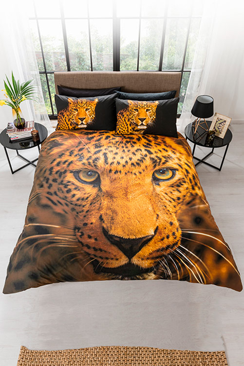 Double Leopard Duvet Set