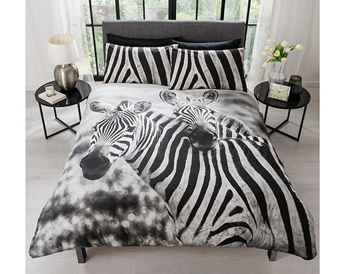 Double Zebra Duvet Set
