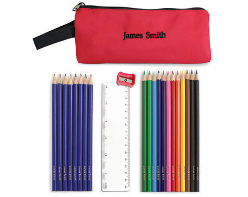 Filled Pencil Case
