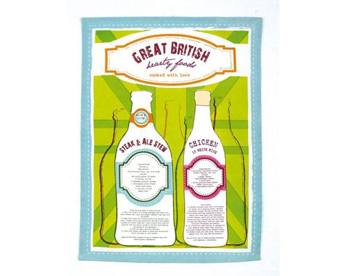 Great British Recipe Tea Towel