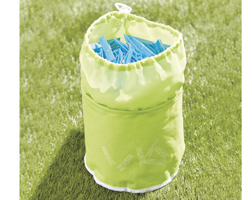Green Peg Bag With Free Pegs